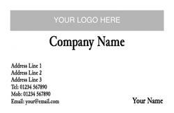 plain logo upload business cards