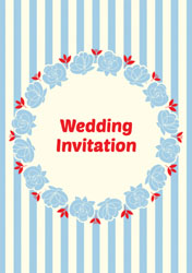 cream and pale blue invitations