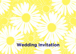 yellow sunflowers invitations
