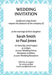 ornate border wedding invitations