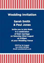 dark blue and red stripes invitations