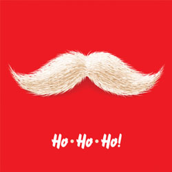 moustache christmas card