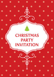 polka dot christmas party invitations