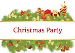 christmas garland party invitations