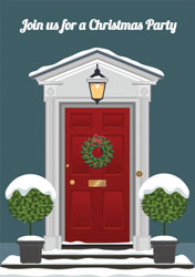 front door christmas party invitations
