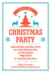 christmas trees border invitations