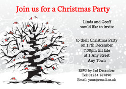 robins in tree party invitations