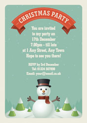 vintage snowman party invitations