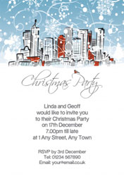 snowy landscape party invitations