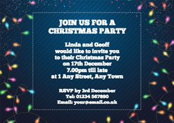 fairy lights party invitations