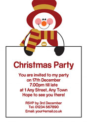 snowman sign party invitations