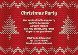 knitted xmas jumper party invitations