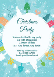 snow circle party invitations