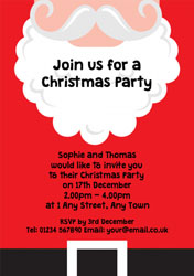 santa party invitations