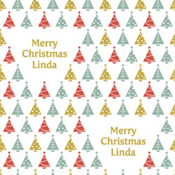 xmas trees wrapping paper