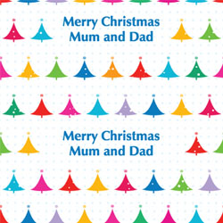 bright christmas trees wrapping paper
