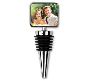 personalised photo upload rectangular bottle stopper