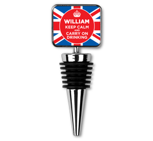 personalised keep calm union jack bottle stopper
