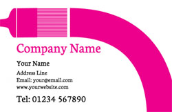 pink paintbrush business cards