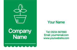 plant pot business cards