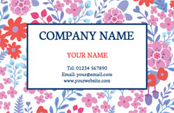 floral pattern business cards