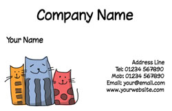 funny cats business cards