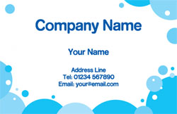 soap bubbles business cards