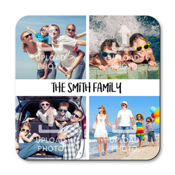 personalised photos and text coasters