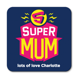 personalised super mum coasters