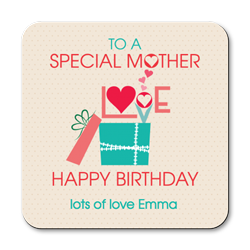 personalised special mother coasters