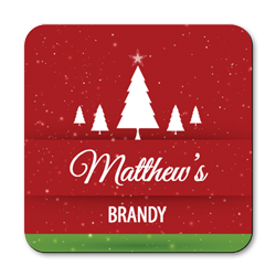 personalised christmas drinks coasters