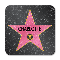personalised hollywood star coasters