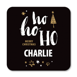 personalised ho ho ho coasters