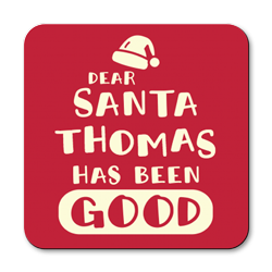 personalised dear santa coasters