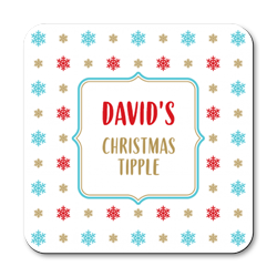 personalised christmas tipple coasters