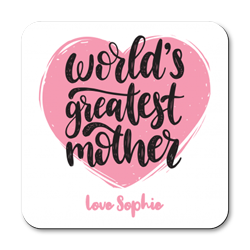 personalised world's greatest mother coasters