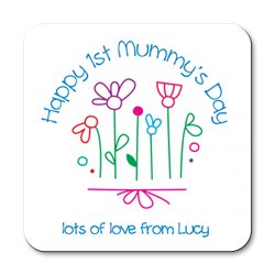 personalised happy 1st mummy's day coasters