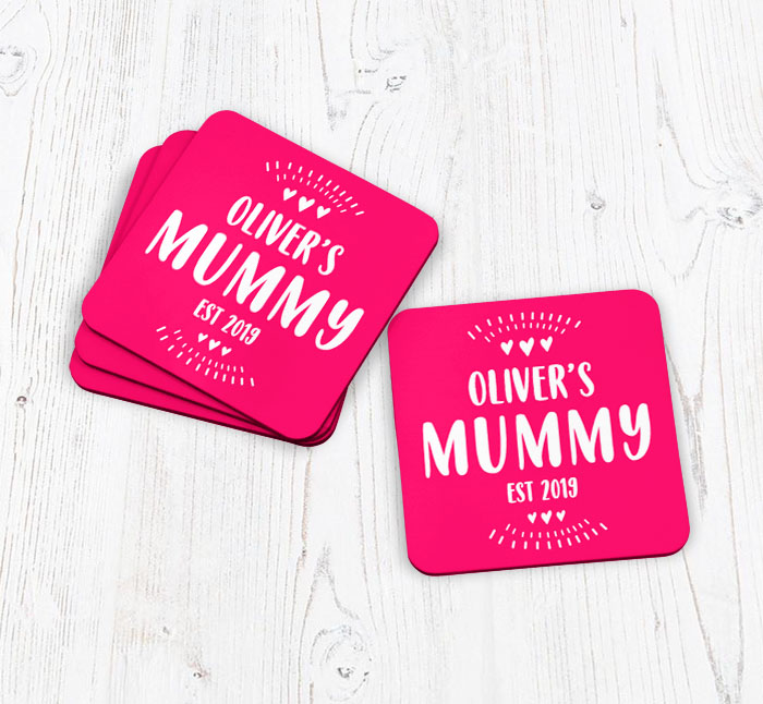 personalised mummy established in coasters