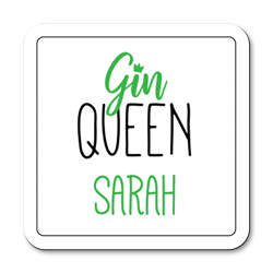 personalised gin queen coasters