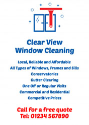 sparkling windows leaflets