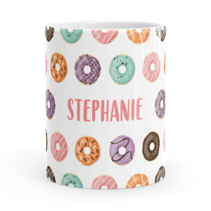 personalised donuts mug