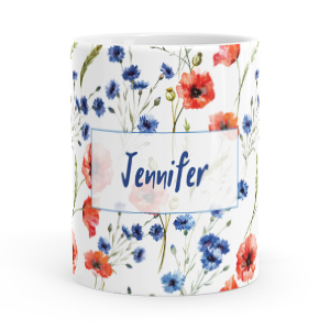 personalised poppies mug