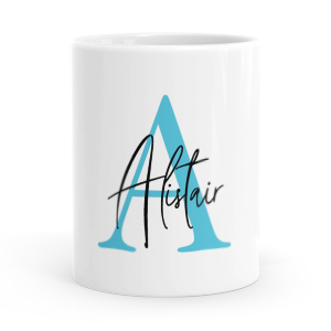 personalised alphabet a is for mug