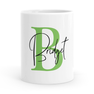 personalised alphabet b is for mug