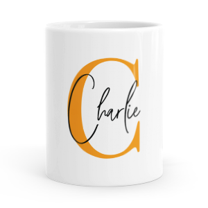 personalised alphabet c is for mug