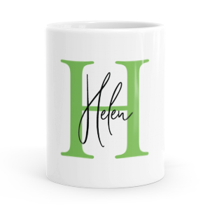 personalised alphabet h is for mug
