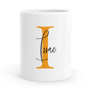 personalised alphabet i is for mug