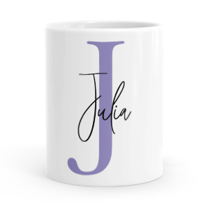personalised alphabet j is for mug