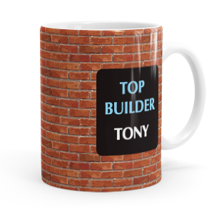 personalised builders mug