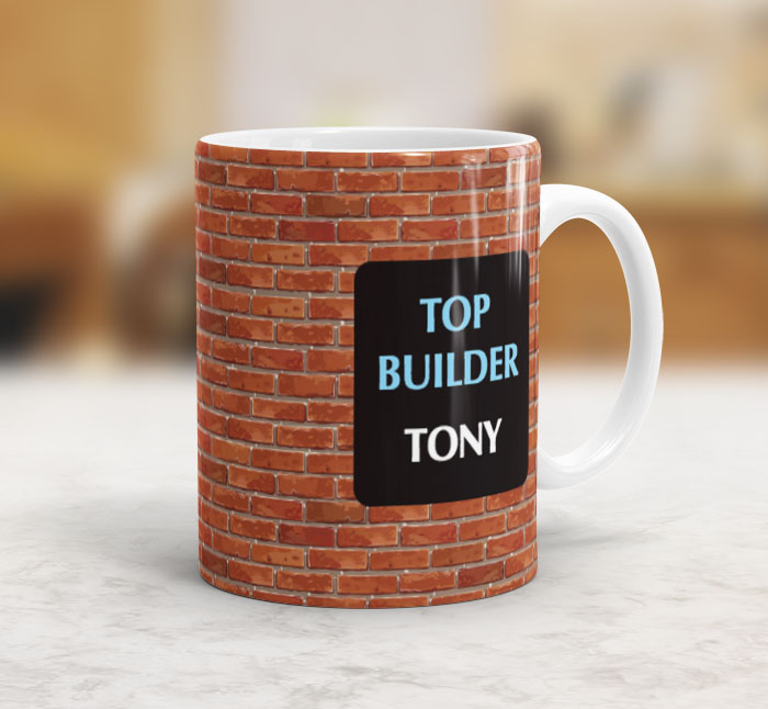 Personalised Builders Mug Personalise Online With Fast Dispatch Putty Print